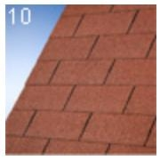 IKO Gont bitumiczny, altankowy NUMBER ONE 3-TAB, kolor Tile Red