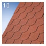 IKO Gont bitumiczny, altankowy NUMBER ONE BIBER, kolor Tile Red