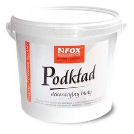 FOX DEKORATOR Podkład Dekoracyjny Biały, farba akrylowa, 7 kg