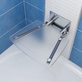 RAVAK Siedzisko prysznicowe OVO B clear, B8F0000015