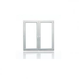 DRUTEX Okno dwuskrzydłowe uchylno rozwierane - rozwierne PCV IGLO 5 CLASSIC O35S z podziałem symetrycznym, wymiary 1435 x 1465 cm, kolor biały