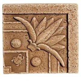 STEGU Narożnik gipsowy Papyrus-dekor, wymiary 110 x 110 x 25, 4 szt.