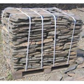 Łupek szarogłazowy, kamień murowy, płytowy, łupany, sortowany, grubość do 6 cm, opak. 1 tona (paleta)